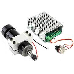 Шпиндель 500 Вт для ЧПУ верстата, хомут і БП з регулятором обертів