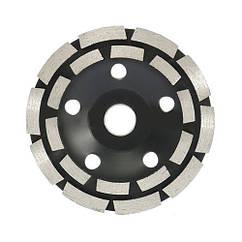 Шліфувальний дворядний алмазний круг, 125мм, форми, по каменю