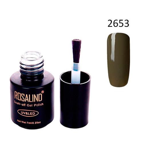 Гель-лак для нігтів манікюру 7мл Розалінда, шелак, 2653 кварцовий