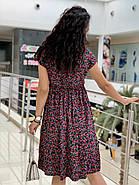 Летнее легкое платье с коротким рукавом с чуть завышенной талией, фото 4