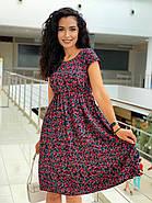 Летнее легкое платье с коротким рукавом с чуть завышенной талией, фото 3
