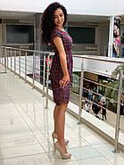Летнее легкое платье с коротким рукавом с чуть завышенной талией, фото 2