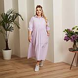 Женский коттоновое платье свободного стиля размер: 50-52,54-56,58-60,62-64, фото 2