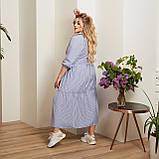 Женский коттоновое платье свободного стиля размер: 50-52,54-56,58-60,62-64, фото 4