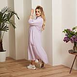 Женский коттоновое платье свободного стиля размер: 50-52,54-56,58-60,62-64, фото 3
