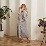 Женский коттоновое платье свободного стиля размер: 50-52,54-56,58-60,62-64, фото 6
