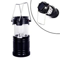 Ліхтар світлодіодний з сонячною батареєю кемпінговий 6LED USB складаний, G-85