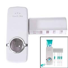 Дозатор зубної пасти з держателем щіток диспенсер самоклеючий