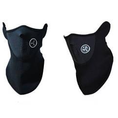 Тепла захисна маска, вело для шиї, обличчя, Чорна