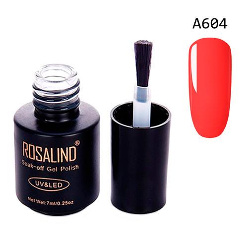 Гель-лак для нігтів манікюру 7мл Розалінда, шелак, А604 неон помаранчевий