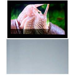 """Тканина світловідбиваюча 100"""" для проектора, проекційний екран, сірий"""