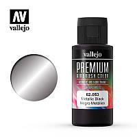 Краска акриловая. Металлик черный 60 мл. VALLEJO PREMIUM COLLOR 62053