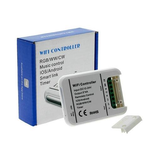 Контроллер светодиодной ленты Wi-Fi, 5 каналов, RGB WW CW, 12-24В, 20А