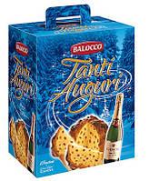 Праздничный набор панеттон с шампанским Balocco Auguri di Natale, фото 1