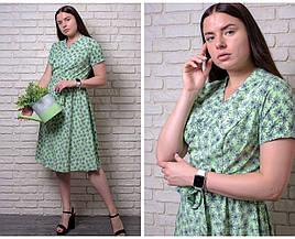 """Красивое женское платье На Запах, ткань """"Софт""""  52, 54 размер 52"""
