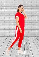 Костюм спортивный женский футболка+ штаны двухнитка