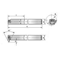 Резец резьбовой (тип2=внутренней метрической резьбы) (специальный ИР-084)(25х16х170) ВК8