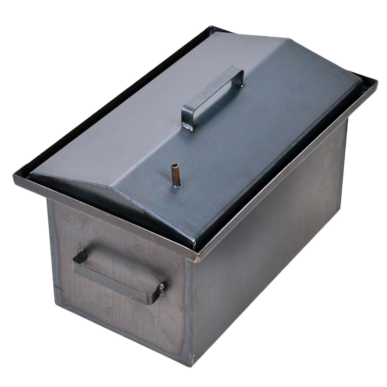 Коптильня горячего копчения 2мм 520х320х300мм с Гидрозатвором (коптилка,каптилка)