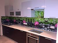 Кухонный стеклянный фартук орхидеи, фото 1