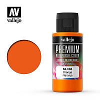 Оранжевый. Акрил-полиуретановая краска 60 мл. VALLEJO PREMIUM COLLOR 62004