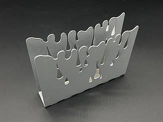 Підставка для серветок для. Колір срібний. 10х12см