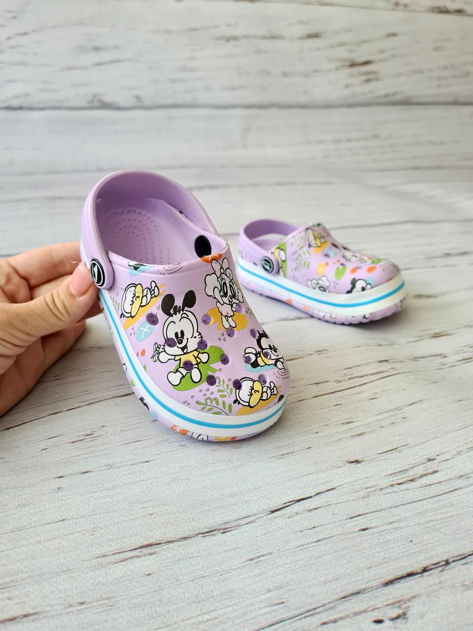 Дитячі крокси/сабо/пляжне взуття для дітей Luckline 18-19р