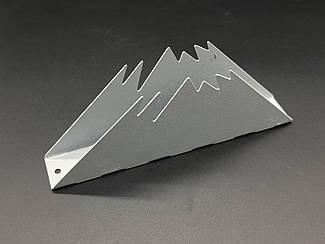 Підставка для серветок для. Колір срібний. 7х17см