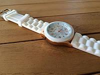 Часы силиконовые женские Geneva white