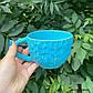 Чашка керамічна ручної роботи Блакитна, фото 3
