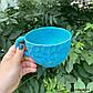 Чашка керамічна ручної роботи Блакитна, фото 4
