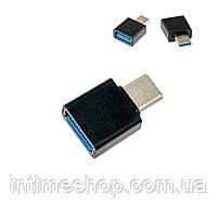 Переходник с usb на type c Черный, адаптер type c usb | перехідник з тайп си на юсб (TI)