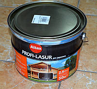 PROFI-LASUR  декоративное защитное средство для древесины с пчелиным воском Altax (2,5 л), фото 1