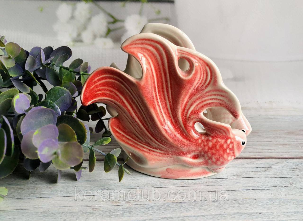 Салфетница Керамклуб Две рыбки красного цвета