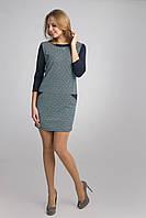 Стильное платье с отделкой горловины и карманами