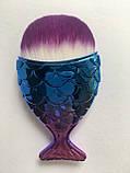 Набір якісних кісточок для макіяжу, 21 шт.  Фіолетово-голубі кисті для макіяжу в стилі Diamond.., фото 3