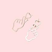 Сережки з сердечком золото біжутерія