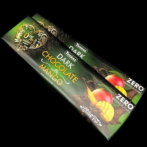 Черный шоколад Torras с манго без глютена 300г