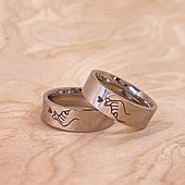 Парные кольца серебро бижутерия 17 размер