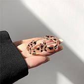 Серьги кольца леопардовые бижутерия