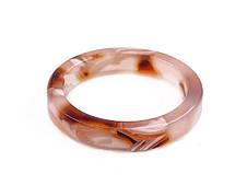 Ретро кольцо бежево-коричневое тонкое бижутерия