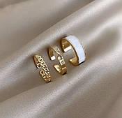 Набор из 3-х колец золото бижутерия