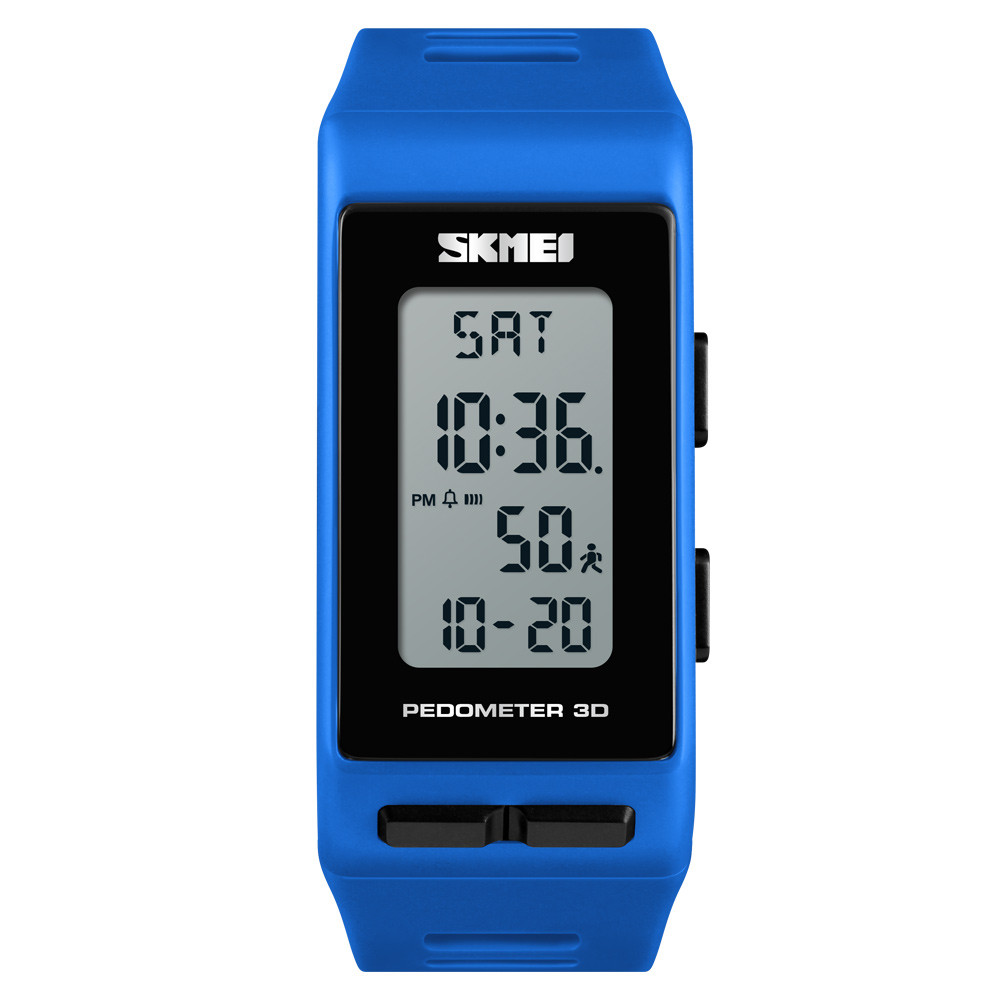 Годинник з крокоміром Skmei 3D Pedometer 1363 Сині