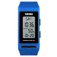 Годинник з крокоміром Skmei 3D Pedometer 1363 Сині, фото 1