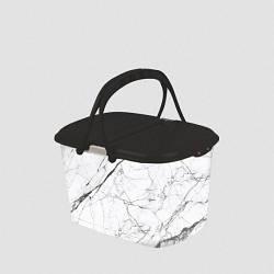 Корзина для пикника Elif Белый мрамор 355