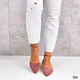 Балетки - босоножки женские розовые / пудровые эко замша, фото 6