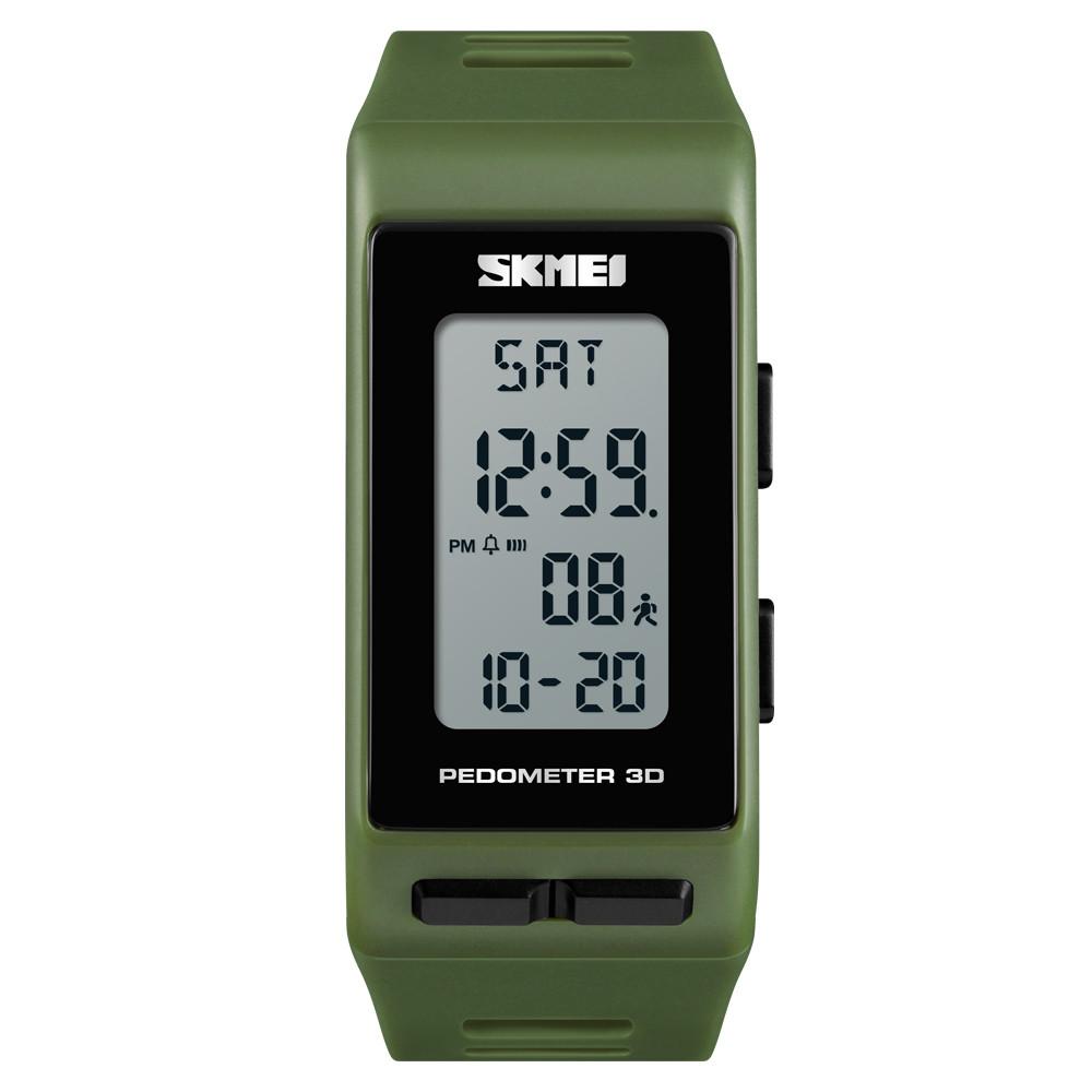 Часы с шагомером Skmei 3D Pedometer 1363 Зеленые
