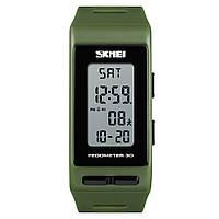 Часы с шагомером Skmei 3D Pedometer 1363 Зеленые, фото 1