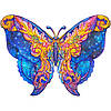 """Пазлы с дерева Бабочка """"Wooden jigsaw puzzle of Galactic Butterfly"""" А4, деревянный пазл Бабочка (NV)"""
