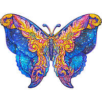 """Пазлы с дерева Бабочка """"Wooden jigsaw puzzle of Galactic Butterfly"""" А4, деревянный пазл Бабочка (NV), фото 1"""