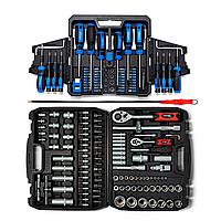 Набір інструментів 108 од. Profline 61085+Набір викруток 63 од. Profline 69163+Гнучкий тримач, фото 1